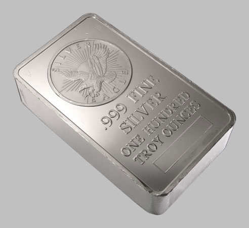 Silver Bars Generic 100 Oz 999 Bullion Silver For Sale